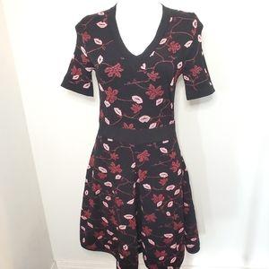 Emilio Pucci Lip Pattern Swing Dress L